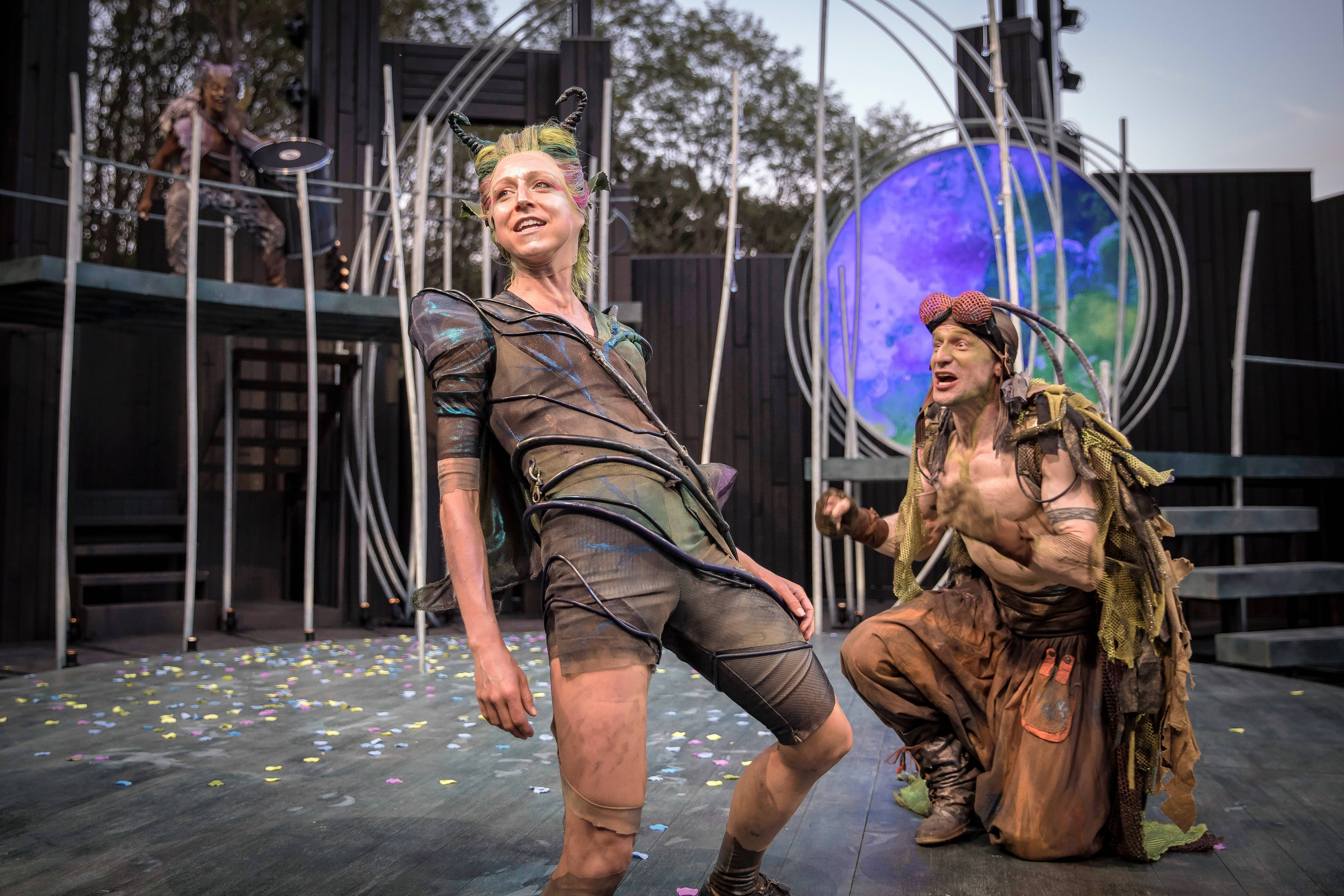 "Cristina Panfilio and Tim Gittings star in ""A Midsummer Night's Dream"" at American Players Theater in Spring Green, Wisconsin."