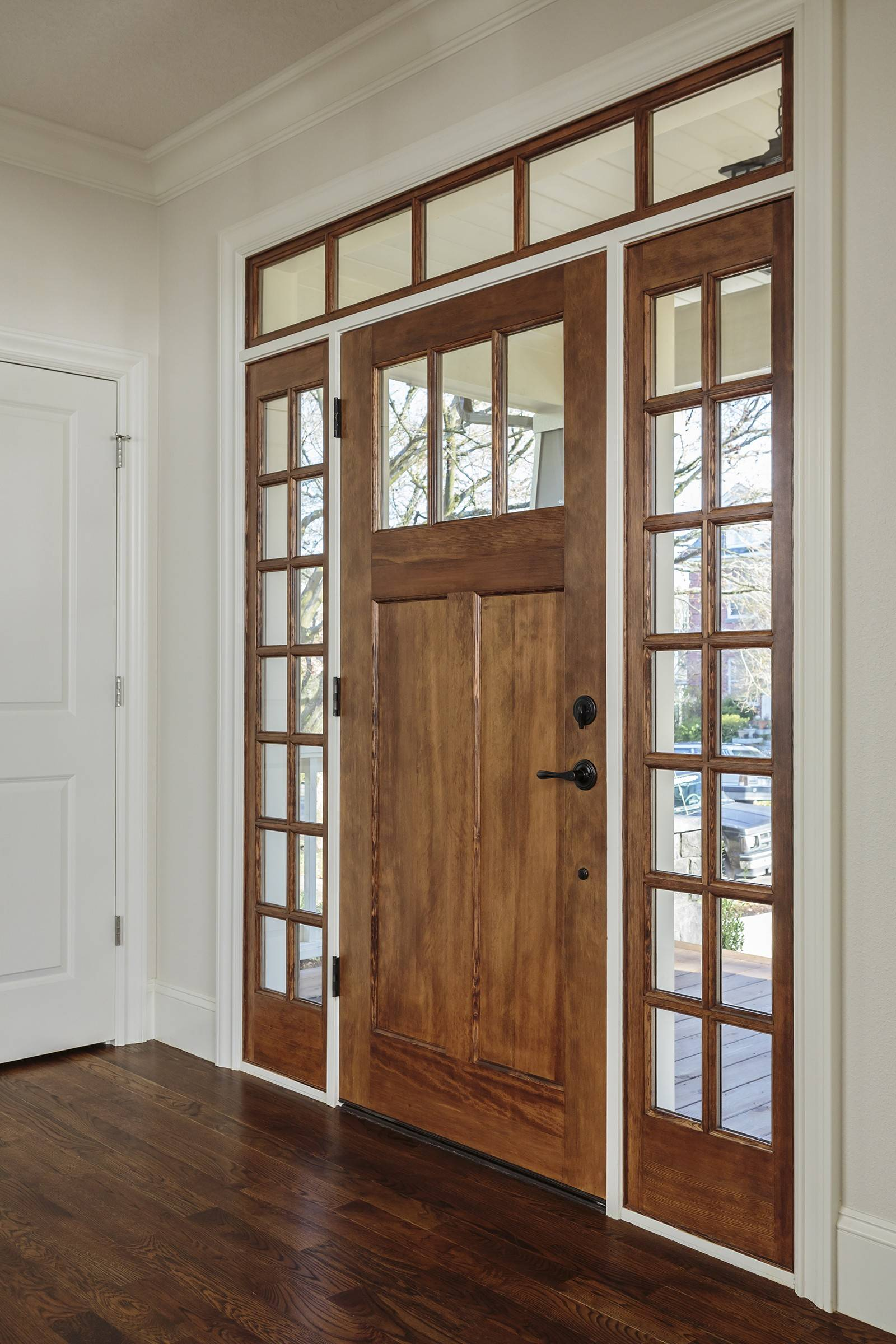 Not only does the front door make a first impression, it also reflects the style of a homeowner.