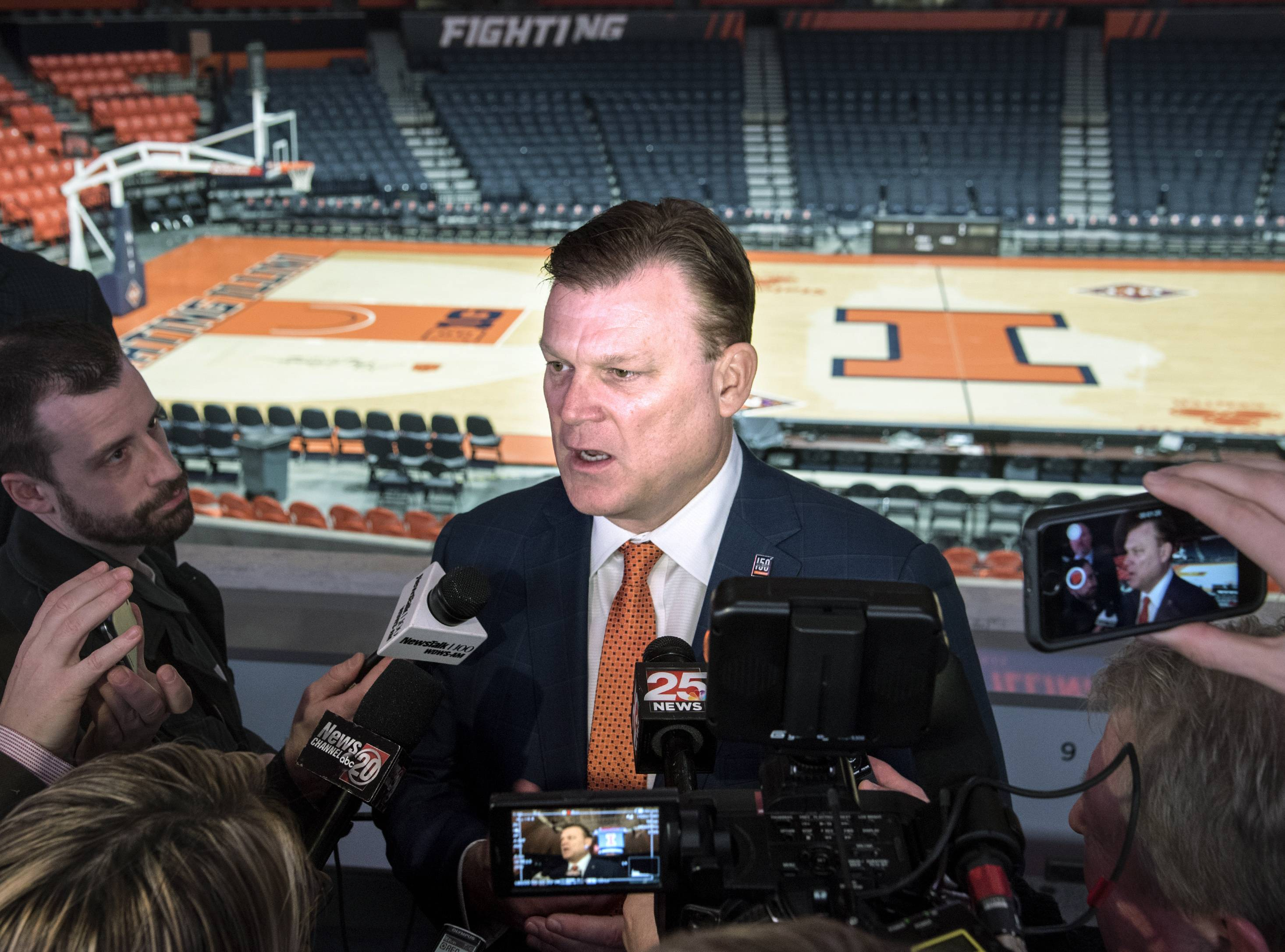 Brad Underwood and the Illini men's basketball team will play 18 home games this season, plus games at Allstate Arena in Rosemont and the United Center.