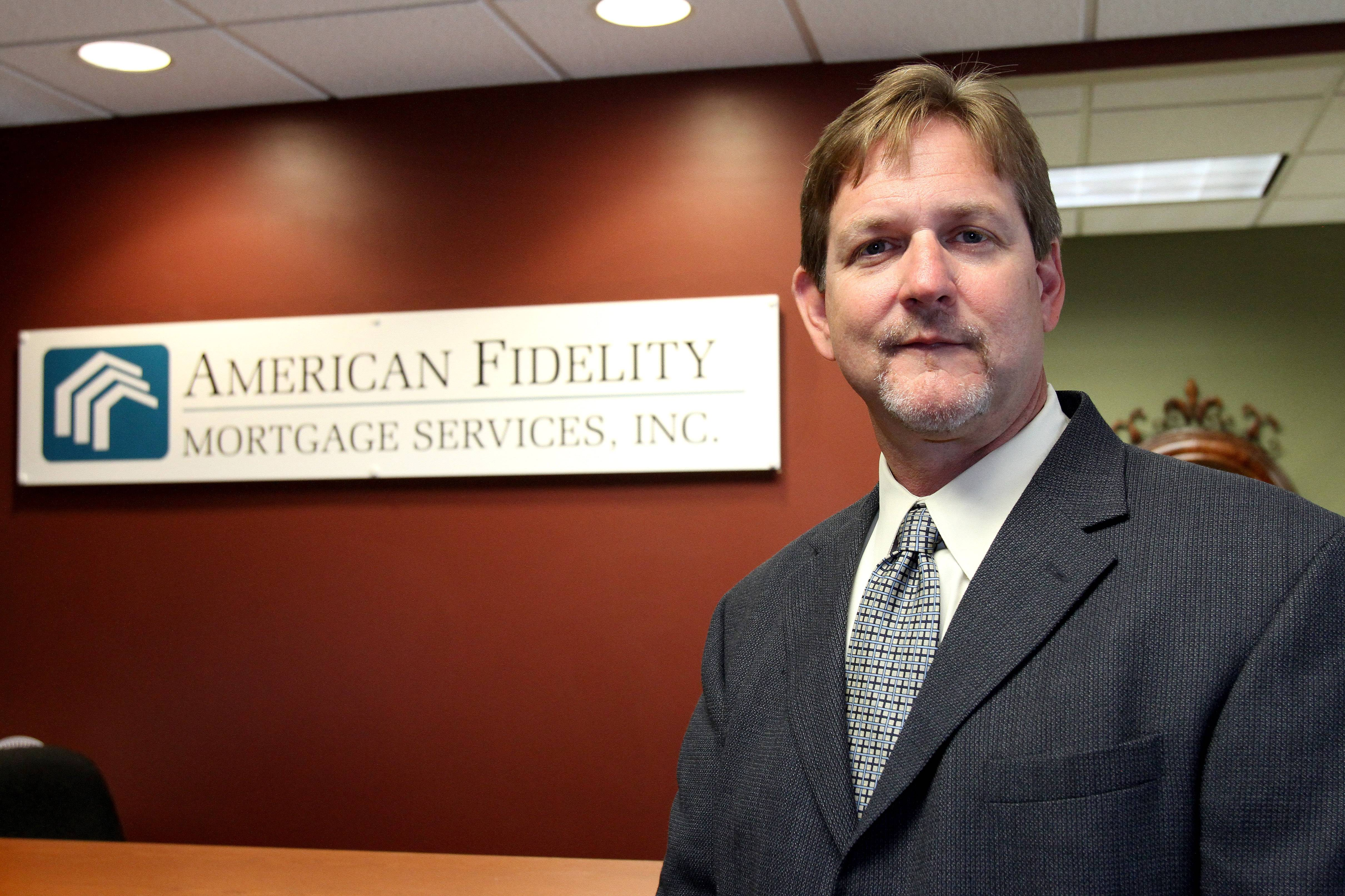 Richard Glover, director of reverse mortgage division, at American Fidelity in Lisle.