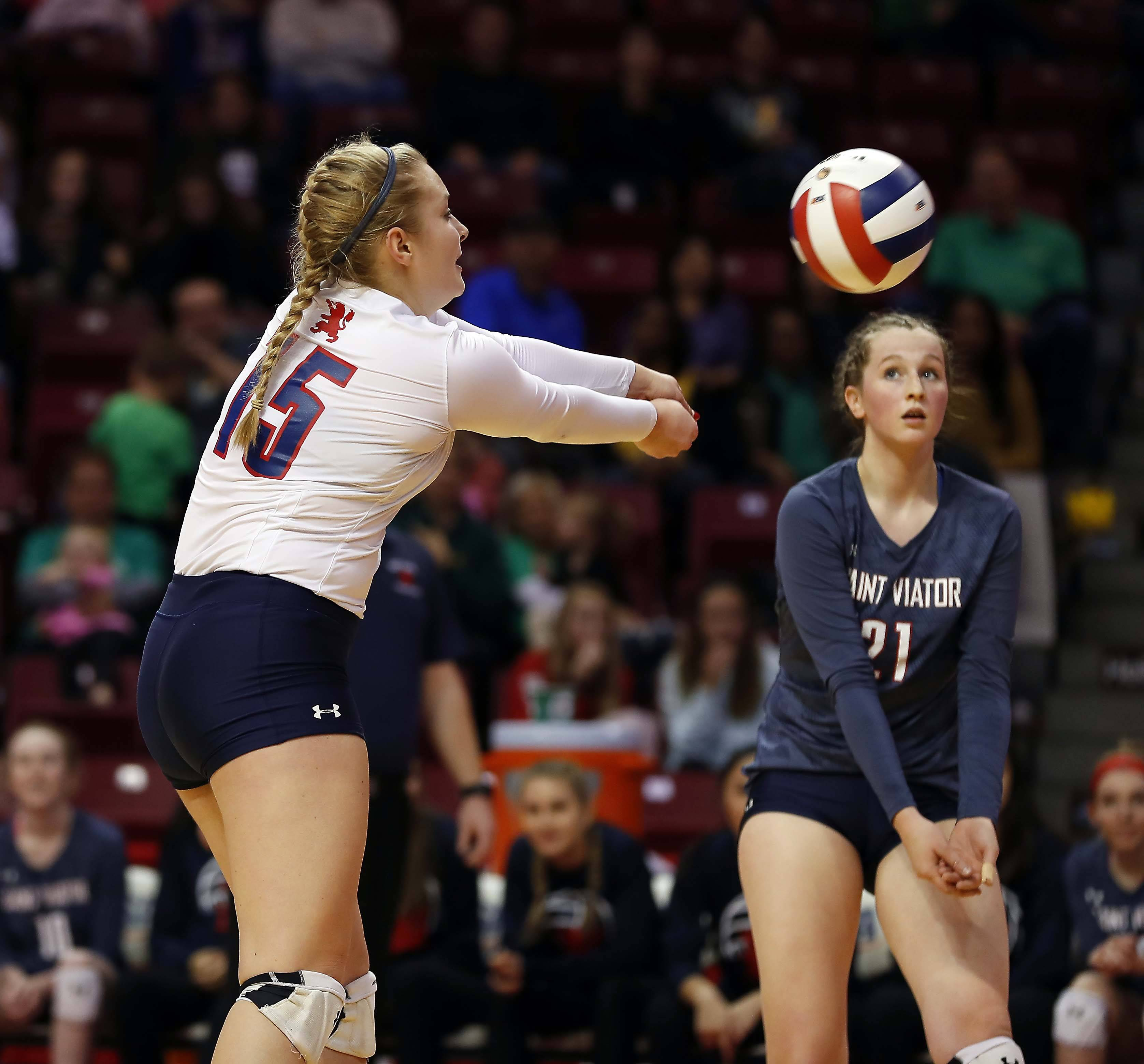 Girls volleyball: St. Viator goes down swinging to complete best-ever season