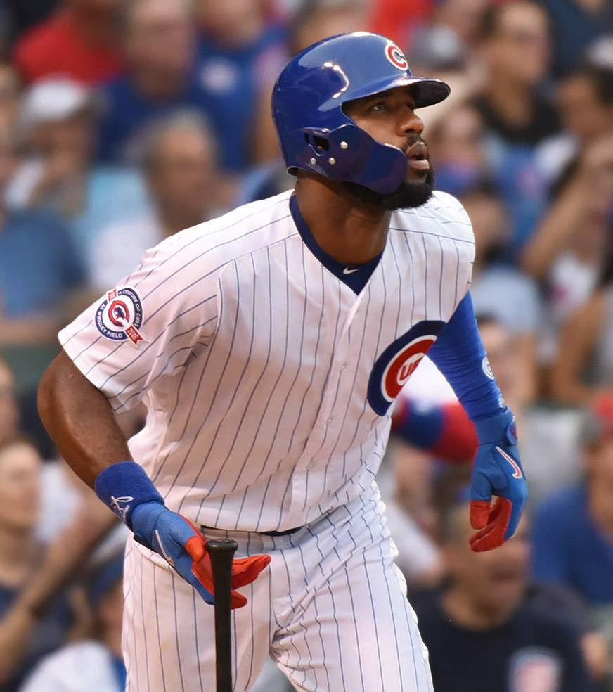 He has earned praise for his defense, but right fielder Jason Heyward has struggled as a hitter since signing with the Cubs.