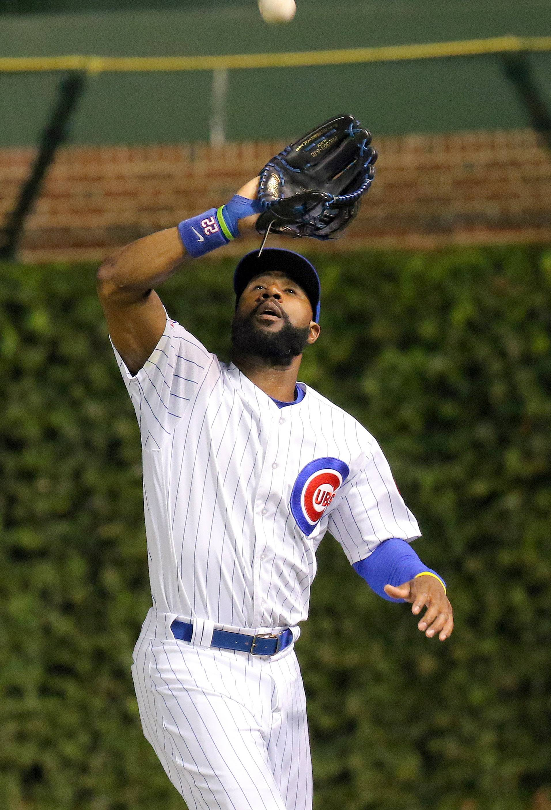 Chicago Cubs right fielder Jason Heyward has played well in the outfield.