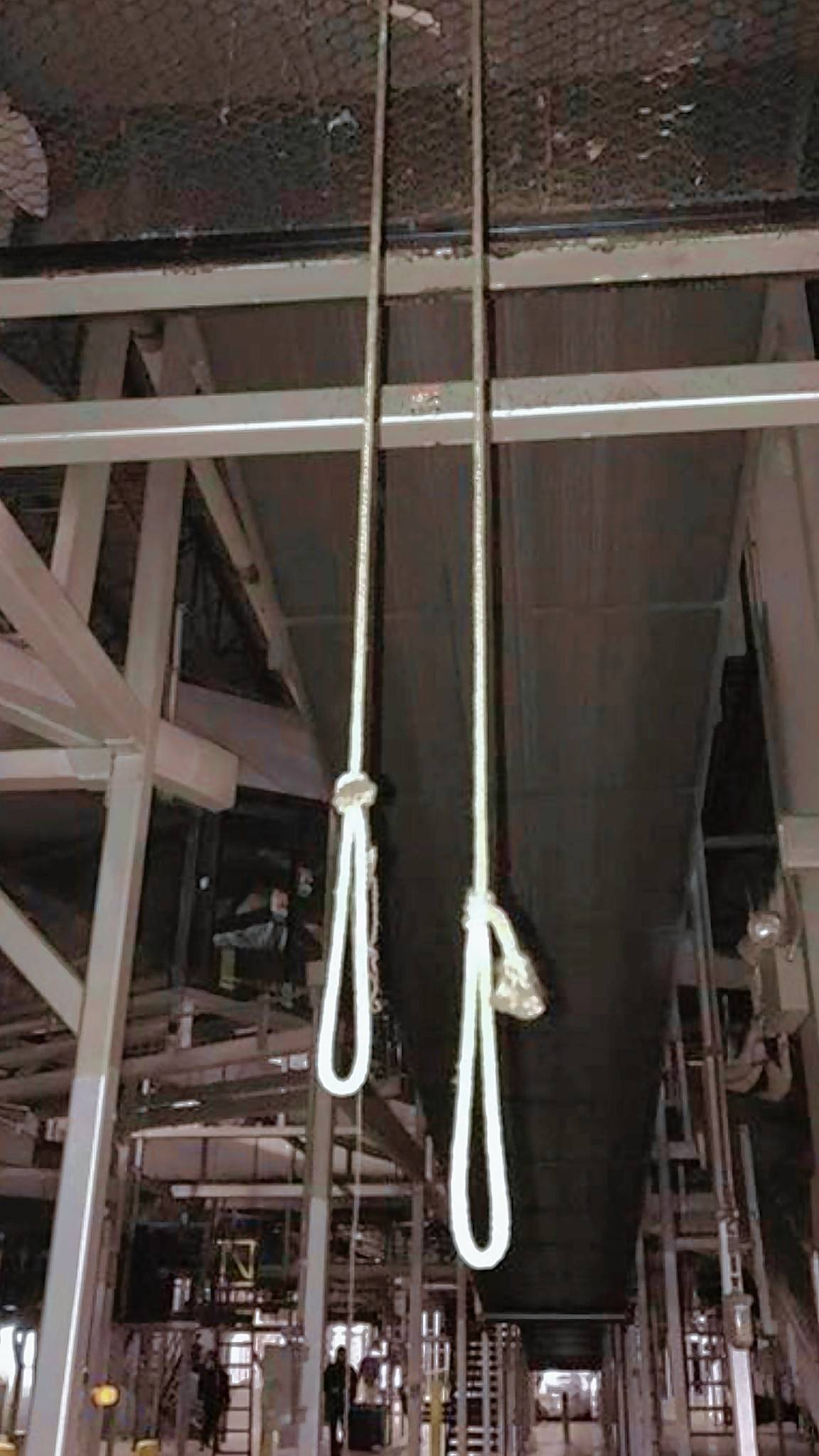 Rashaun Granberry says he viewed these ropes he saw dangling at United Parcel Service in Palatine as nooses sending a racist message. UPS says the ropes were temporarily used in place of chains that were being repaired to pull the cover off of a piece of equipment.