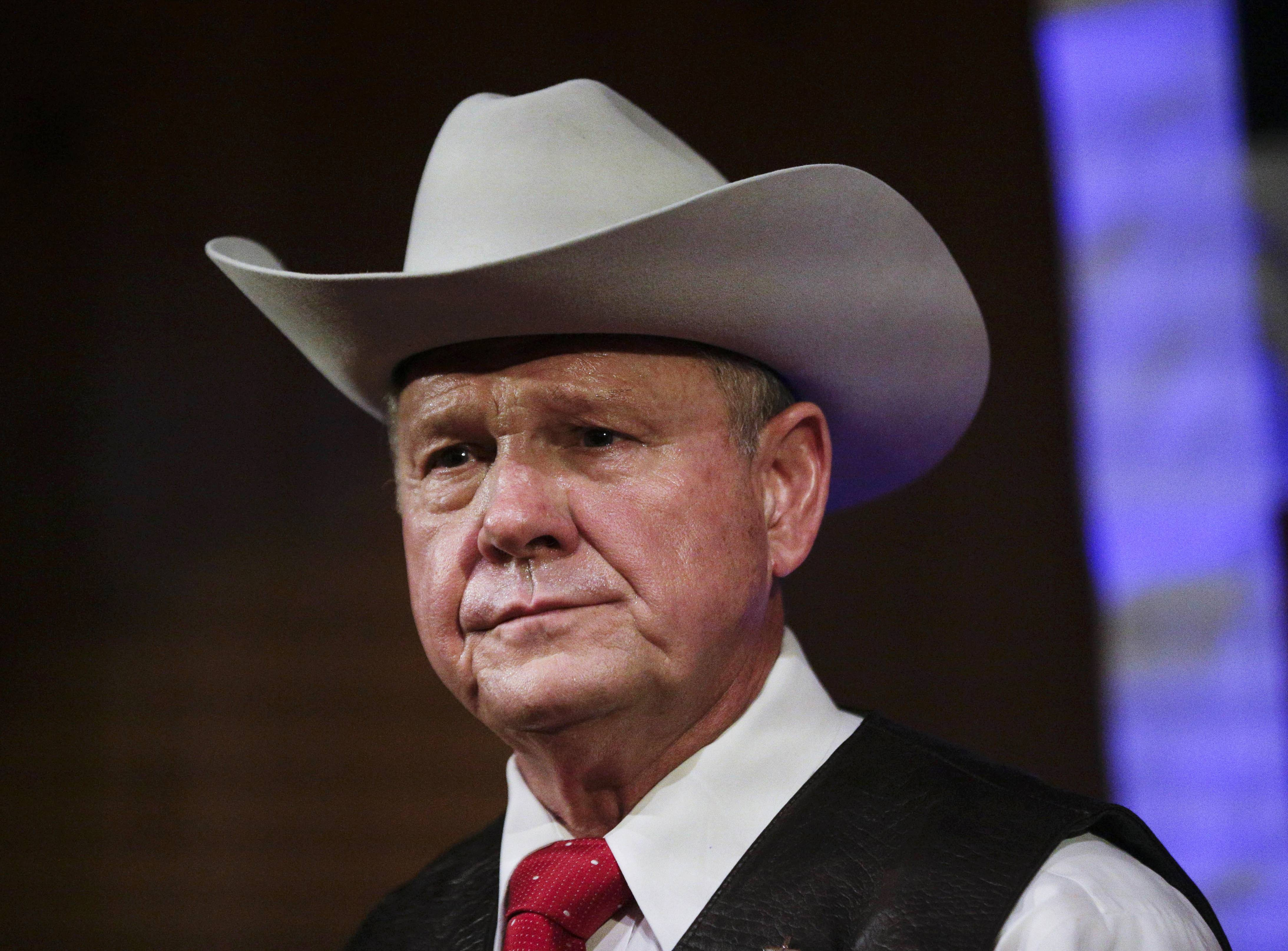 Former Alabama Chief Justice and U.S. Senate candidate Roy Moore